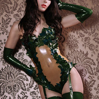 Poison Ivy Latex Rubber Body suit