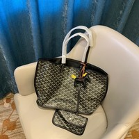 GOYARD Fashion  Women Leather monnogam Handbag Crossbody bags Shouldbag Bumbag