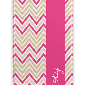 HAND DRAWN TEXTURED CHEVRON - MONOGRAMMED IPHONE CASE