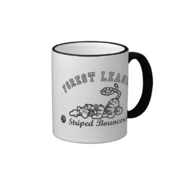 Winnie the Pooh Tigger Forest League basketball Ringer Coffee Mug