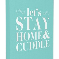 LulusimonSTUDIO 'Let's Stay Home & Cuddle' Canvas Wall Art