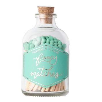 Small Seafoam Match Jar