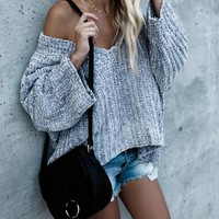 What A Dream Knit Sweater - Grey