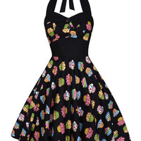 Lady Mayra Ashley Cupcake Dress Vintage Rockabilly PinUp 1950s Retro Psychobilly Gothic Lolita Steampunk Swing Prom Party Plus Size Clothing