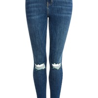 MOTO Authentic Blue Ripped Jamie Jeans | Topshop