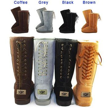 UGG hot seller of casual women's snow boots, fashionable boots with high straps