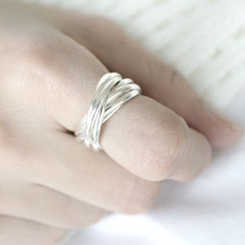 Twisted Silver Ring Sterling Ring .925 Silver Ring Personalized Ring