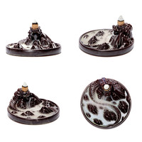 Ceramic Dragon Incense Burner + 80 Incense cones