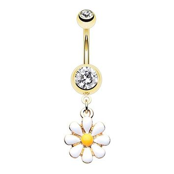WildKlass Jewelry Enchanting Flower Chandelier 316L Surgical Steel Belly Button Ring