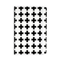 "Suzanne Carter ""Swedish Cross"" Black White Everything Notebook"