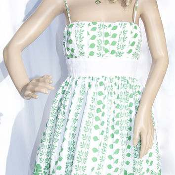 White & Green Floral Sundress by XOXO