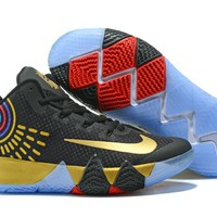 Nike Kyrie Irving 4 Black/Gold Sport Shoes US7-12