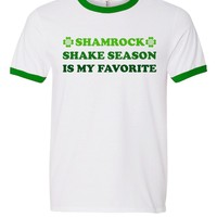 Shamrock Shake Season Is My Favorite St. Patrick's Day Ringer Tee