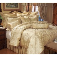 Amazon.com: 9PCS QUEEN GOLD IMPERIAL COMFORTER SET BED IN A BAG: Home & Kitchen