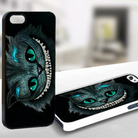 For Iphone 4/4s - cats alice in wonderland - Case Print On Hard Cover