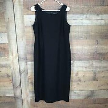 JESSICA HOWARD Black Sleeveless Lined Sheath Dress