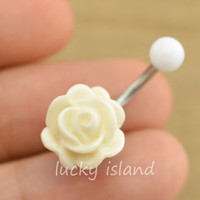 rose belly button jewelry,flower belly button rings,rose navel ring,rose piercing belly ring,friendship bellyring