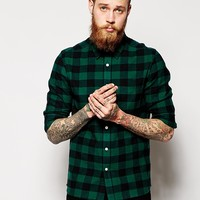 ASOS Shirt In Long Sleeve With Brushed Buffalo