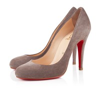 RON RON SUEDE 100 mm, Suede, TAUPE, Women Shoes.