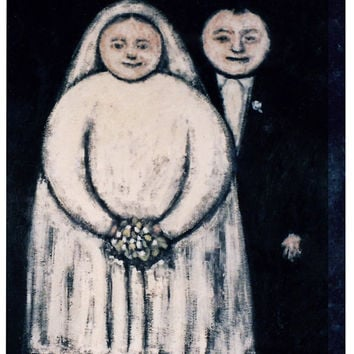 """Couple In Love - """"The Newlyweds"""" Art Print - Vintage"""