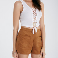 Lace-Up Front Cropped Tank | Wet Seal