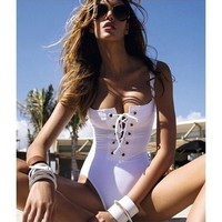 Lace Up Tank Style swimsuit