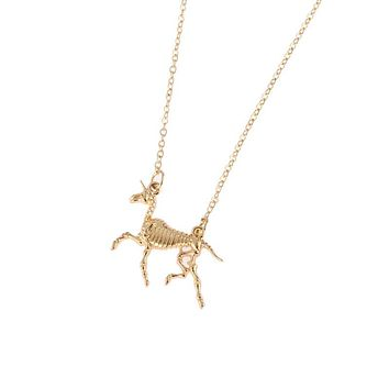 Unicorns Are Real Fossil Necklace in Gold or Silver
