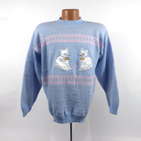 Cat Sweater Vintage Kitty Cats Tacky Holiday Party Women's