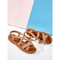 Cross Band Slingback Sandals