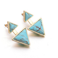 Strong Character Turquoise Earrings [8581992903]