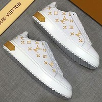 LV Louis Vuitton tide brand wild casual low to help small white shoes