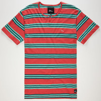Imperial Motion Nester Mens Henley Coral  In Sizes