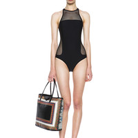 Mesh Combo One Piece Swimsuit in Black