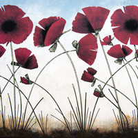 """Red Poppy Painting - """" Poppies in the Sun"""" - Print"""