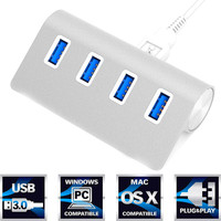 BrankBass High Speed Mini 4 Ports USB 3.0 Hub USB Phone Charger For iPhone For Samsung SmartPhone Accessories