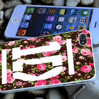 1D One Direction Floral iPhone 4 4S iPhone 5 5S 5C and Samsung Galaxy S3 S4 Case