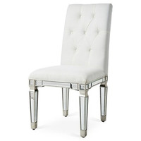Elegant Lighting - Ivory Chair with Sliver/Clear mirror
