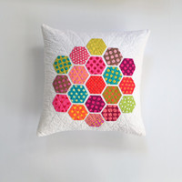 Polka Dot Pillow, Polka Dots, Hexagon Pillow, Geometric Pillow, Pillow Cover, Modern Pillow
