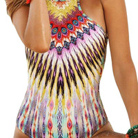 Dazzle Geo Print One-Piece Swimsuits for Women