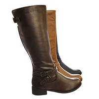 Bio Equestrian Inspired Fashion Riding Boots w Belt & Zipper Detail