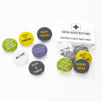 CHRONIC PAIN - Invisible Illness Button Party Pack