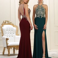 Prom Long Dress Formal Back Evening Gown