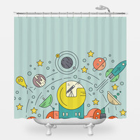Outer Space Shower Curtain