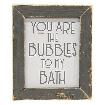 You Are My Bubbles Framed Print