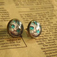 Alice cat earrings jewelry