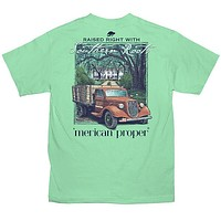SALE Merican Proper Southern Roots Truck Pigment Dyed Unisex T-Shirt