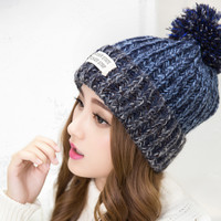 Knitted Fur Cap
