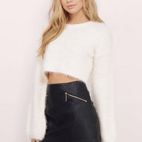 Out To Play Fuzzy Sweater $36