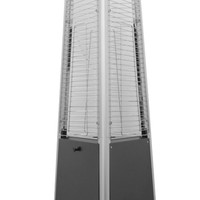 Tall Commercial Matte Black Glass Tube Outdoor Patio Heater