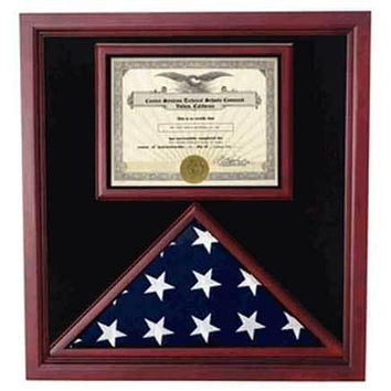 Flags Connections Flag and Certificate Case, Flag Display Cases With Certificate